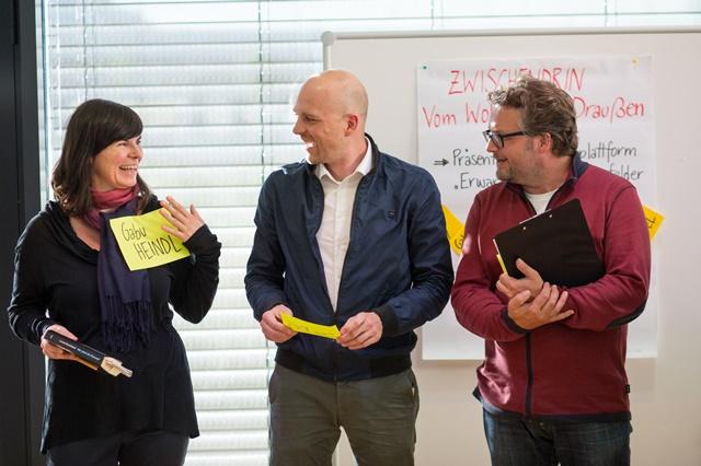 Gabu Heindl, Harald Höller und Richard Luger waren ImpulsgeberInnen bei